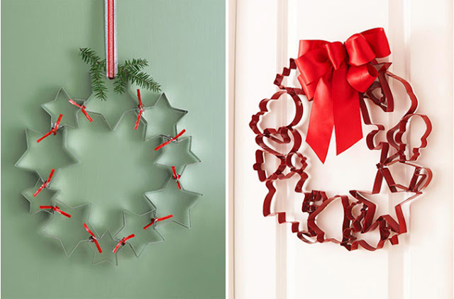 Things You Never Thought to Do With Christmas Cookie Cutters-EASY CHRISTMAS wreath