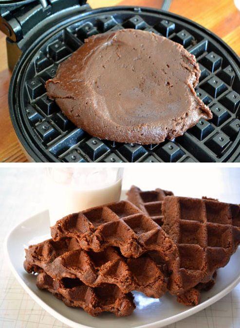 CHOCOLATE WAFFLE BROWNIES