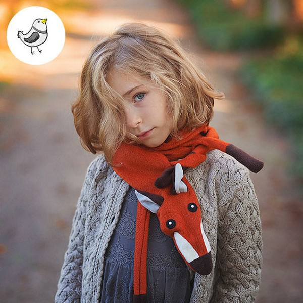20 Cool Creativity And Funny Winter Scarf Designs -Soft fox scarf