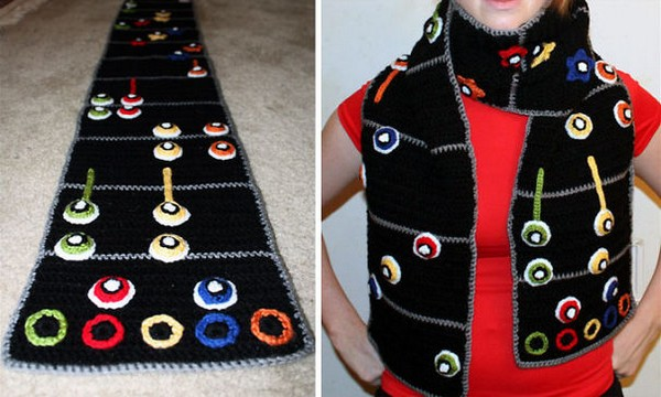20 Cool Creativity And Funny Winter Scarf Designs guitar-hero-scarf