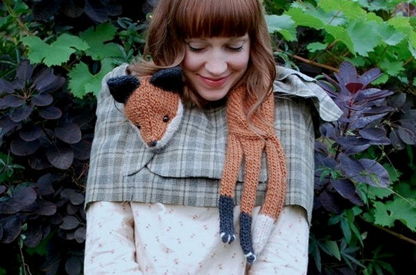 20 Cool Creativity And Funny Winter Scarf Designs fox-scarf