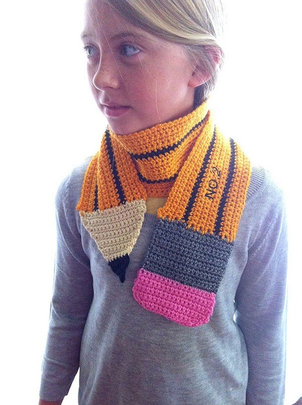 20 Cool Creativity And Funny Winter Scarf Designs pencil-scarf