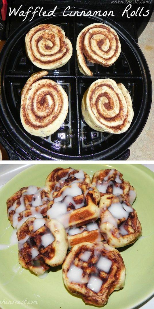 waffled Cinnamon-Rolls