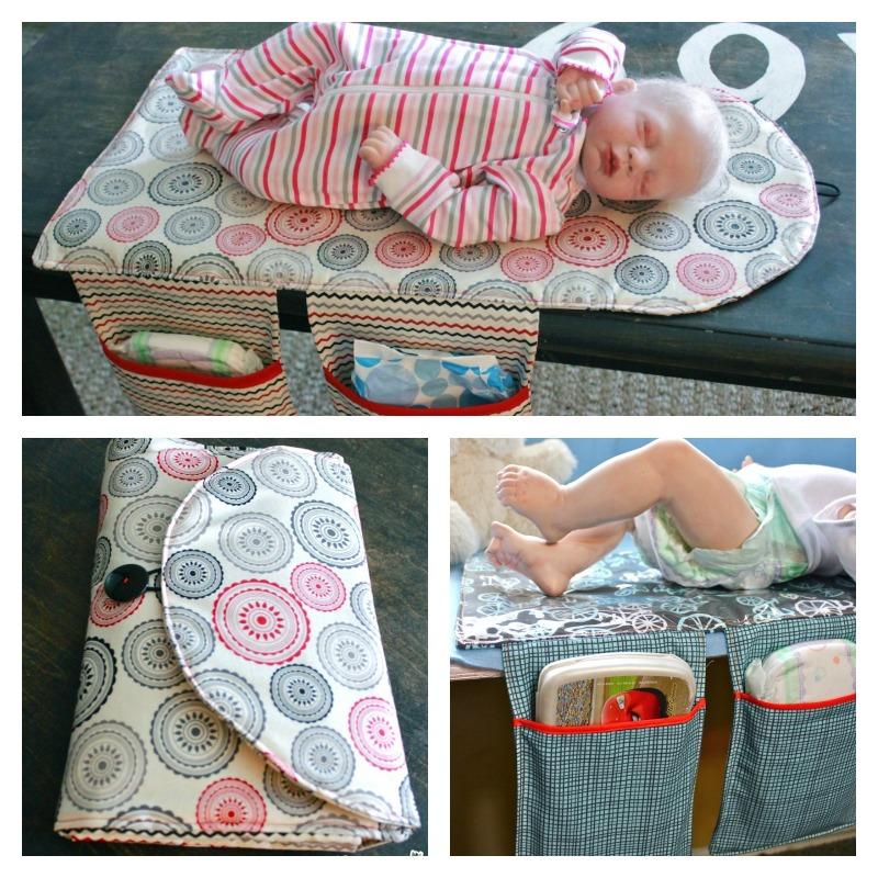 diy travel diaper changing pad and clutch bag. Black Bedroom Furniture Sets. Home Design Ideas