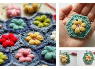 Crochet Daisy Puffagon Free Pattern