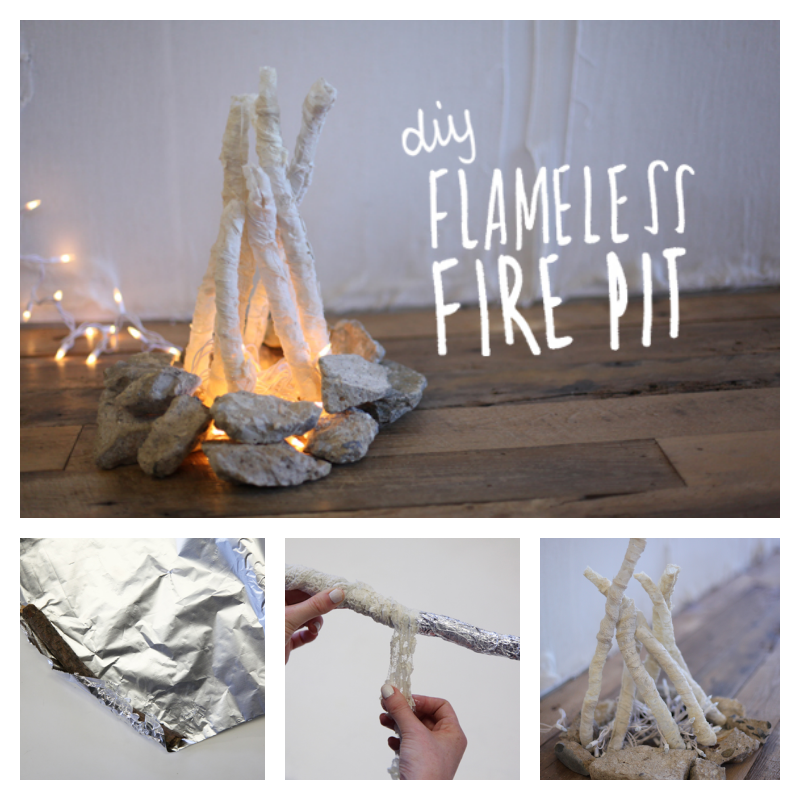 DIY Flameless Fire Pit - DIY Flameless Fire Pit - Cool Creativities
