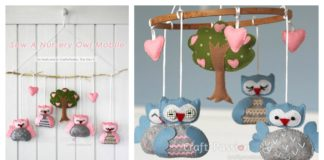 DIY Nursery Owl Mobile with Free Pattern