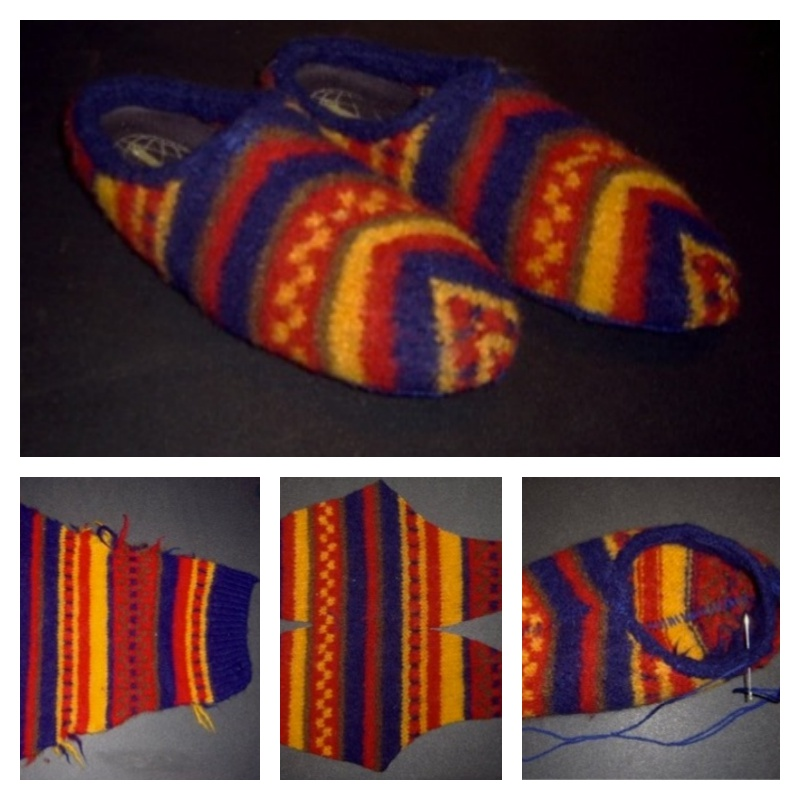 DIY Slippers from an Old Sweater -7
