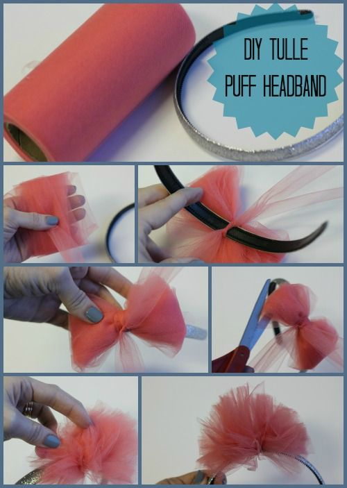 DIY tutu hairband