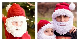 Double Loop Crochet Santa Beard with free Pattern