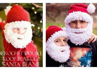 Double Loop Crochet Santa Beard with free Pattern