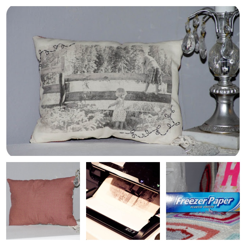 How to DIY Vintage Photo Pillows Using Your Printer