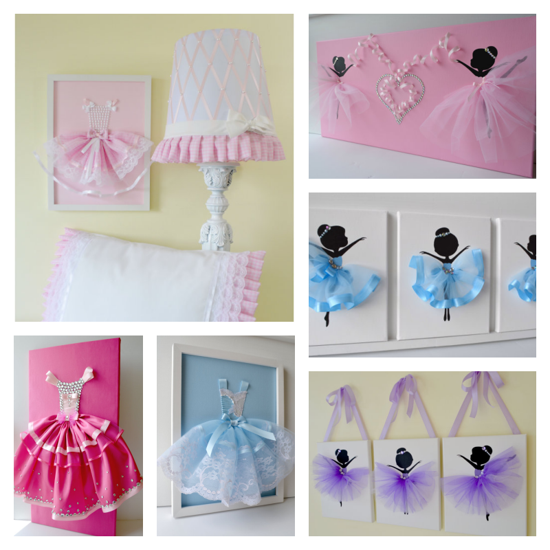 Tutu Ballerina Canvas Wall Art