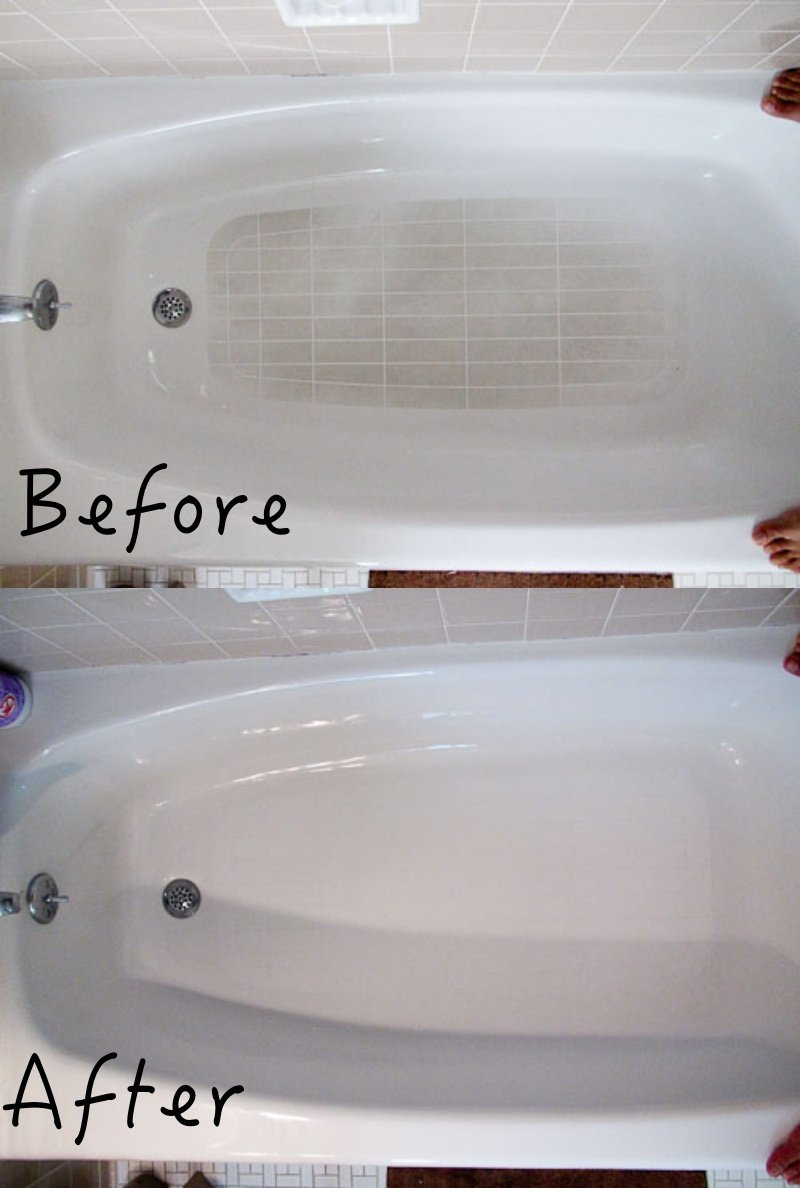 how to Clean the bathtub slip resistant bottom looks like new