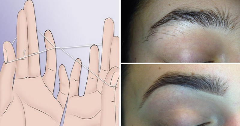 How To Shape Your Eyebrows Like A Boss With Thread In 5 Minutes Or Less