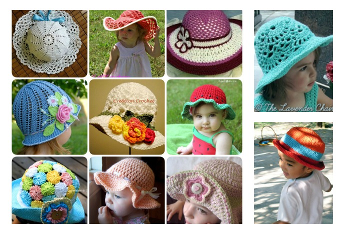 20 Crochet Summer Hats Free Patterns For Kids Cool Creativities