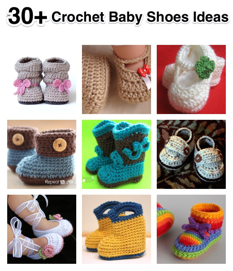 30+ Crochet Baby Shoes Ideas