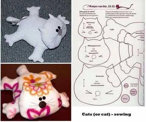 Выкройка кота подушки фото