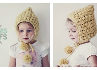 Crochet Adorable PomPoms and Puffs Hat with Free Pattern