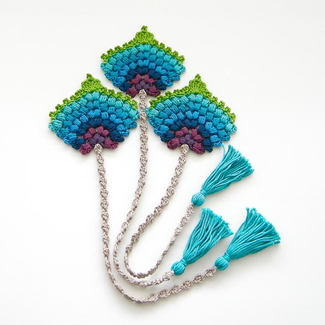 Crochet Bookmark Peacock Feather Fan Pattern Cool Creativities Gorgeous Crochet Bookmark Pattern