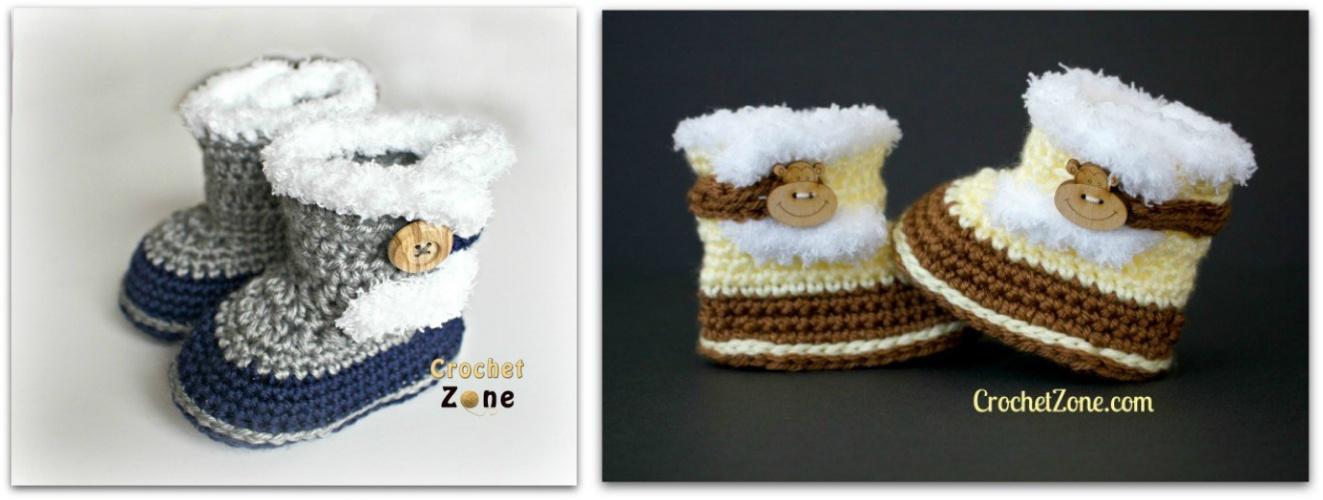 Crochet Fuzzy Booties