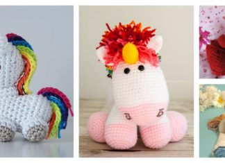 Crochet Rainbow Unicorn with Free Patterns