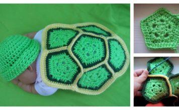 Crochet Turtle Newborn Photo Prop with Free Pattern