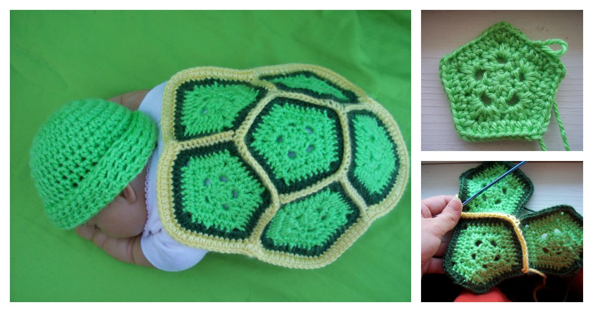 Free Crochet Pattern Turtle Photo Prop : Crochet Turtle Newborn Photo Prop with Free Pattern