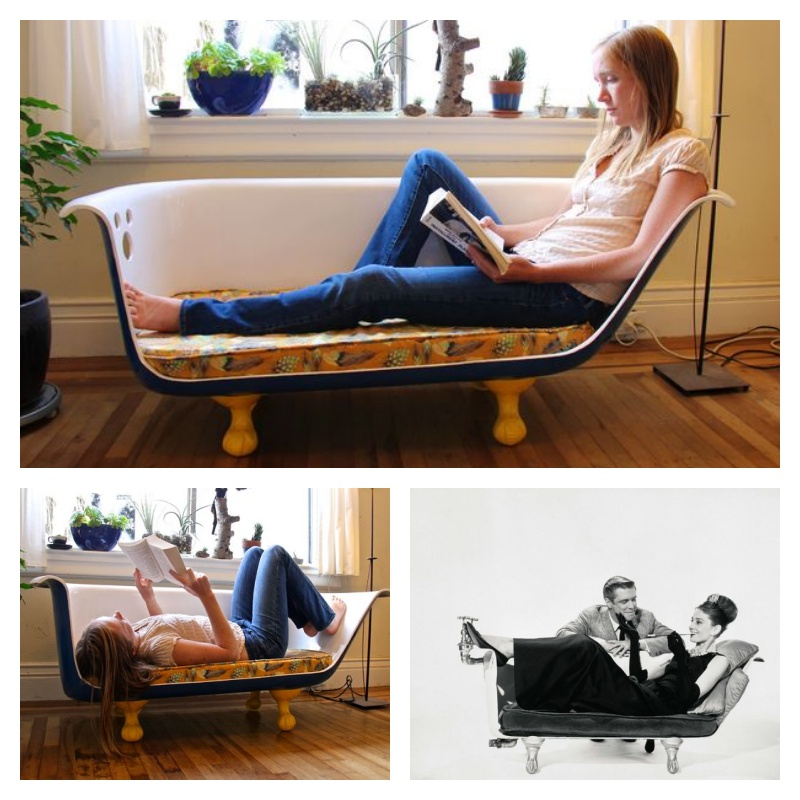DIY Clawfoot Bathtub Couch