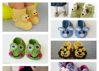 Crochet Baby Animal Booties