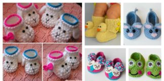 Adorable Crochet Baby Animal Booties with Free Patterns