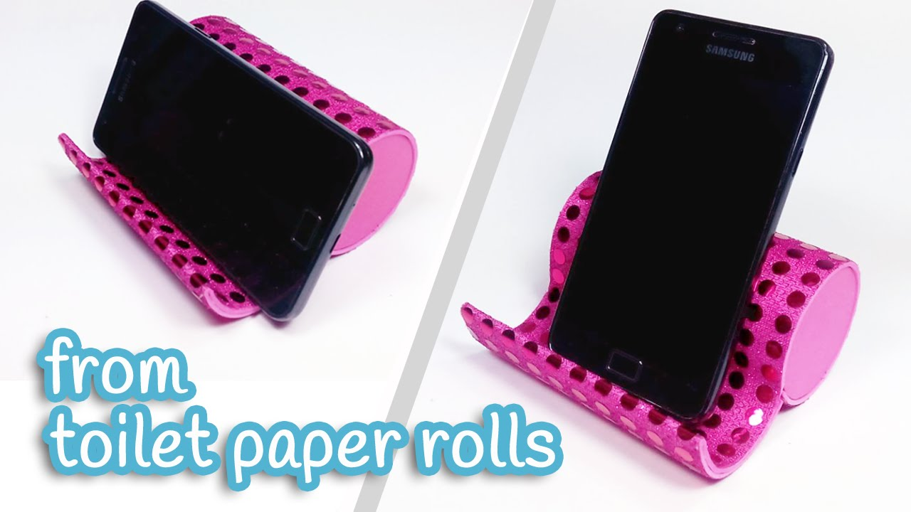 Diy phone holder from toilet paper rolls for How to use toilet paper rolls