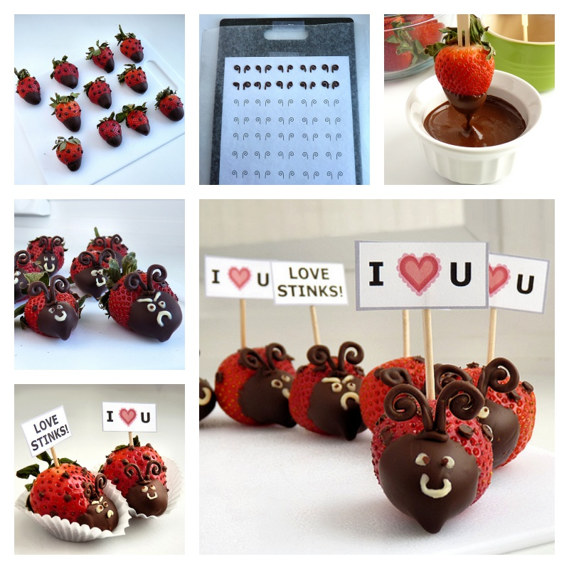 DIY Valentine's Day Strawberry Ladybugs
