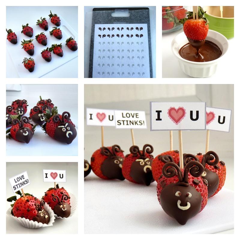 DIY Valentine's Day Strawberry Ladybugs