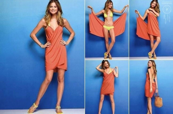 824a5c4636 DIY Victoria's Secret No Sewing Swimsuit Cover-Up 1