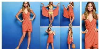 DIY Victoria's Secret No Sewing Swimsuit Cover-Up