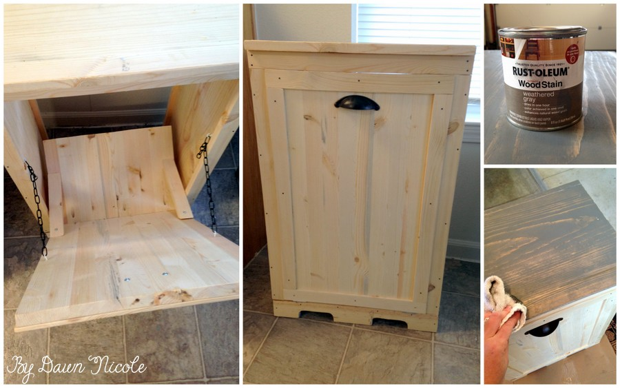 Diy Wood Tilt Out Trash Can Cabinet 2