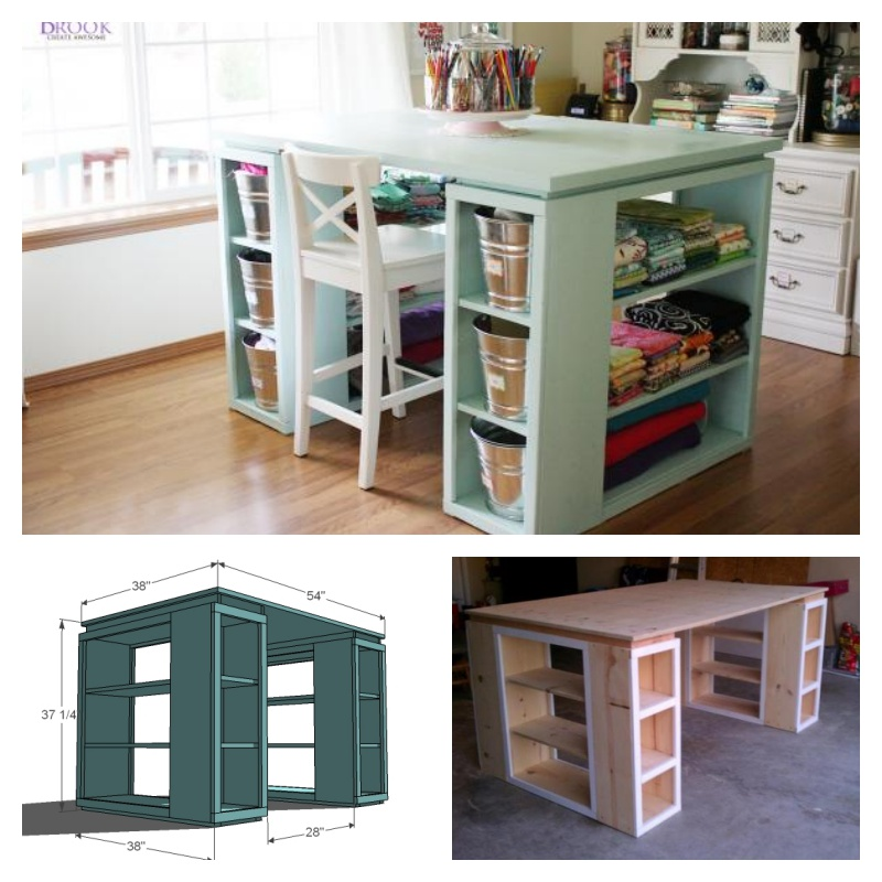 how to make a perfect craft table. Black Bedroom Furniture Sets. Home Design Ideas