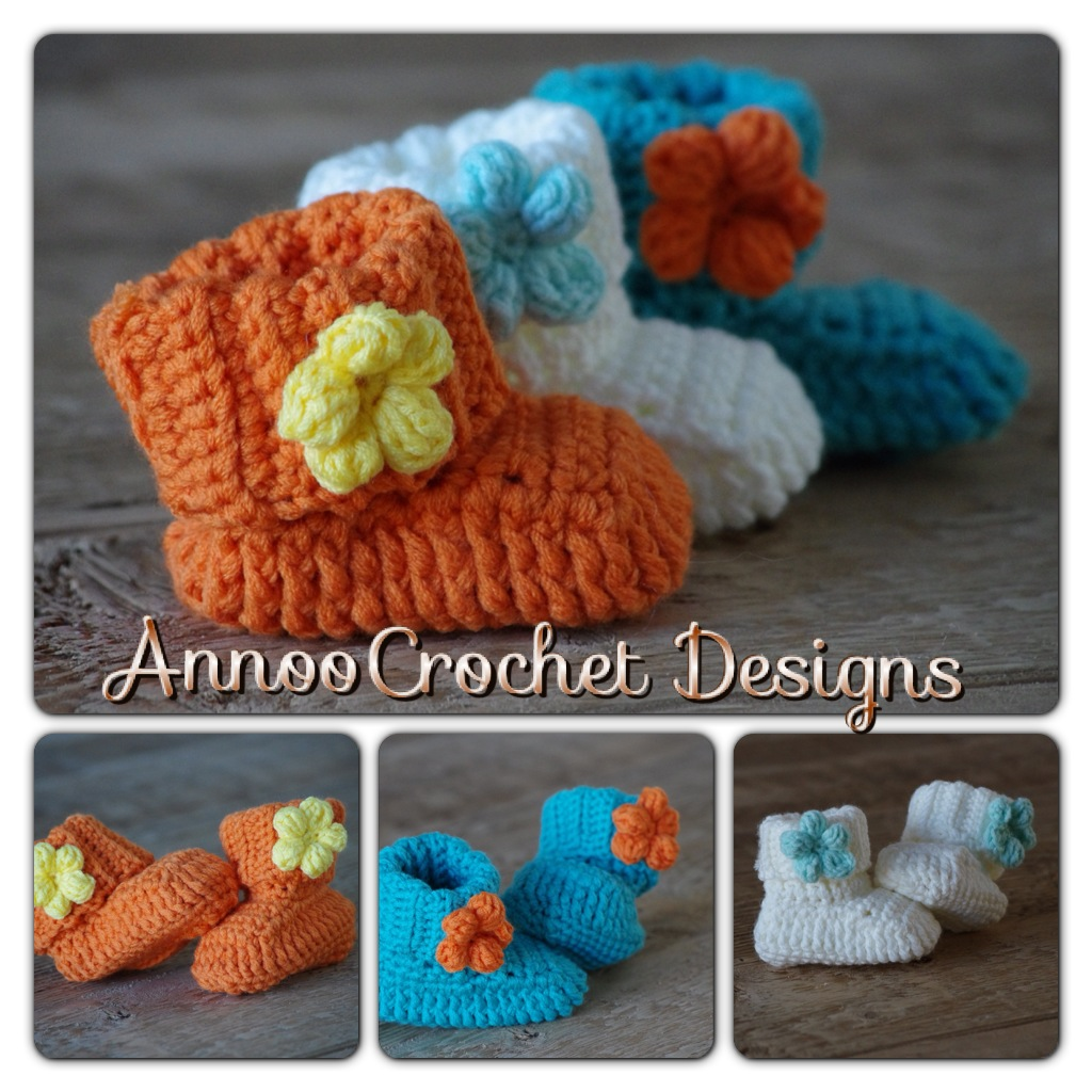 Crochet Wrap Around Button Baby Boots Pattern : 30+ Crochet Baby Shoes Ideas and Patterns - Page 3 of 5