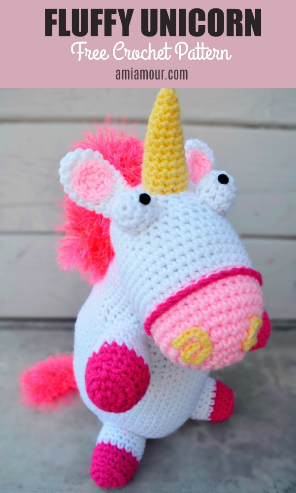 Tiny rainbow unicorn crochet amigurumi pattern - Amigurumi Crochet ... | 1000x601