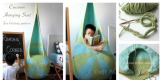 How to Knitting a Cocoon Hanging Seat with Free Pattern
