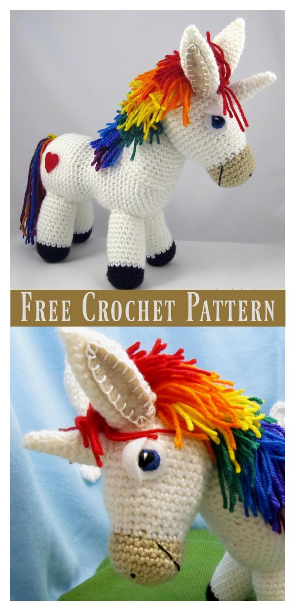 Rainbow Unicorn Amigurumi Free Crochet Pattern