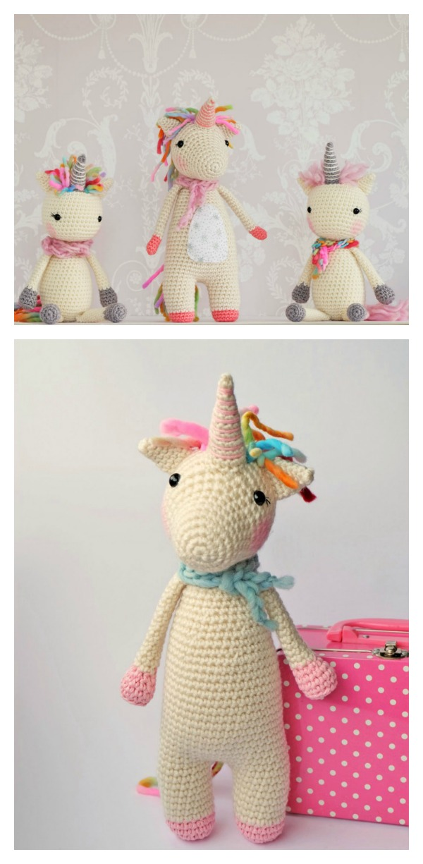 Twinkle Toes the Unicorn Free Crochet Pattern