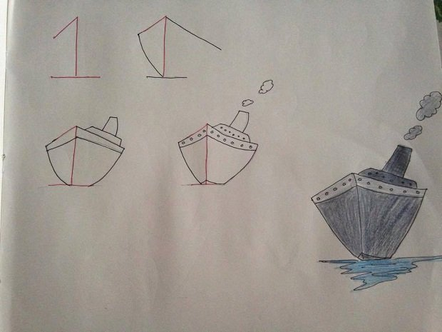 1 Fun Kids Drawings With Number As a Base