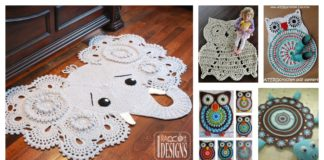 13 Cute and Lovely Crochet Rug with Patterns