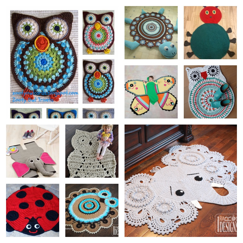 Crochet Owl Rug Pattern: 13 Cute And Lovely Crochet Rug With Patterns
