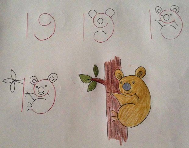 19 fun kids drawings with number as a base - Fun Drawings For Kids
