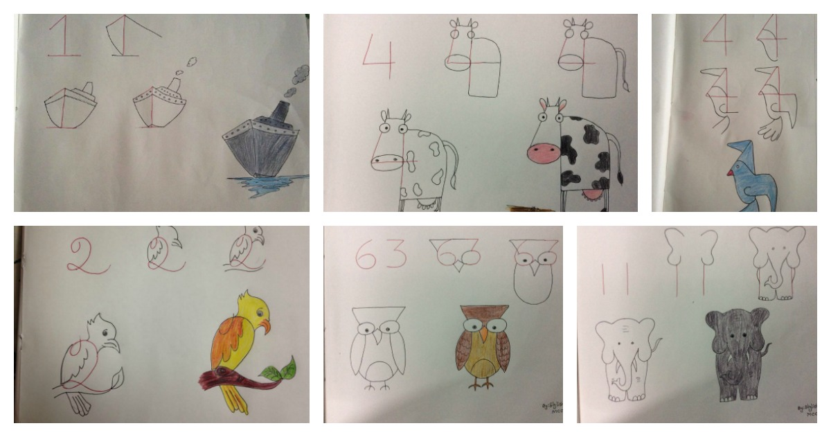 20+ Fun Kids Drawings With Number As a Base f
