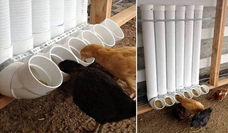 DIY PVC Chicken Feeder #garden # chicken #feeder
