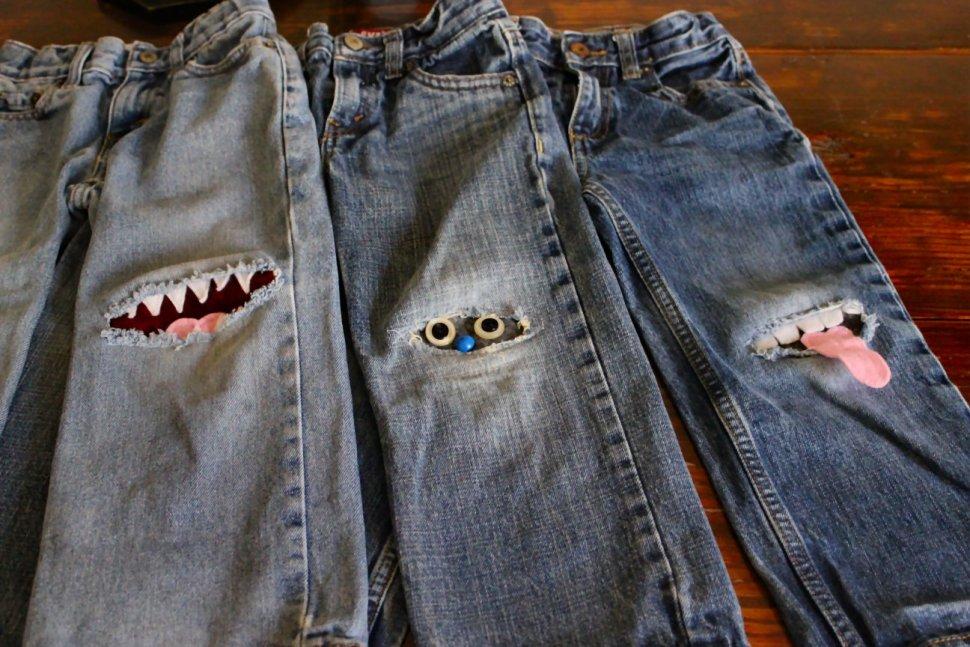 Заплатки на детские штаны